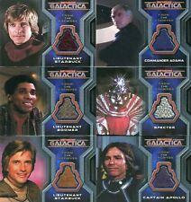 Battlestar Galactica Colonial Warriors Costume Card Lot 6 Cards