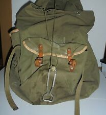 Vintage Back Pack Carrier Camping Hiking #190 Ruck Sack Military