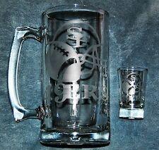 San Francisco 49ers Beer Mug & Shot Glass Set Hand Etched (NEW)