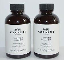 LOT OF 2 COACH NEW YORK LEATHER CLEANER HANDBAG PURSE WALLET SHOE WASH 4 FL OZ