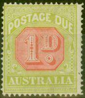 Australia 1918 1d Scarlet & Pale Yellow-Green SGD80 Fine Lightly Mtd Mint