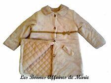 TUTTO PICCOLO - PROMO -60% - Manteau fausse fourrure beige - Neuf étiquette