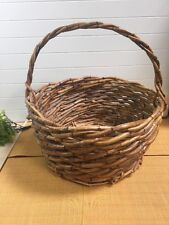 """Large Rustic Twig & Branch Basket Basket Very Good Condition  21"""" X 10"""" ."""