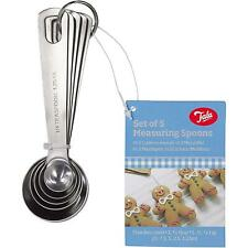 Tala Stainless Steel Metal Ideal Measuring Spoon Set, Baking & Cooking - 5 Piece