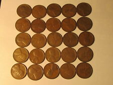 1/2 Roll 1927 S Lincoln Wheat Cents Penny in Good or Better Condition 25 Coins
