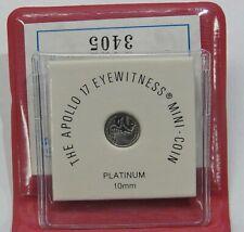 Apollo 17 Eyewitness Mini Coin: Platinum - 1.4 Grams - w/ Pouch & COA