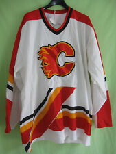 Maillot Hockey Calgary Flames Vintage CCM Homme Jersey Ice Shirt - XL