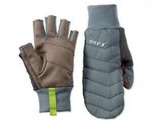 NEW SIZE L ORVIS PRO INSULATED CONVERTIBLE MITTENS W/ PRIMALOFT - FREE US SHIP