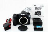 Canon EOS 80D 24.2MP Digital SLR Camera Black Body Near Mint From Tokyo Japan