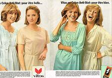 PUBLICITE ADVERTISING 035  1977  VITOS  sous vetements lingerie de nuit ( 2p)