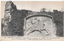 France Postcard - Chateau D'Arques-i-A-Bataille - Castle Inside Baso Relievo 904