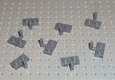 LEGO - PLATE, Modified 1 x 2 with Arm Up, DARK BLUISH GREY x 8 (4623) PM107