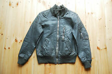 "Vintage 80's Grey German Luftwaffe Pilots Bomber Flight Jacket 38"" Small"