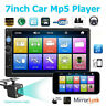 "7"" 2Din HD Car Stereo bluetooth MP5 Player FM Radio Touch Screen + Camera 7010B"