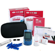 New Blood Glucose Monitor Intelligence Meter Glucometer Strips & Lancets Case