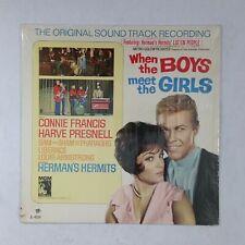 WHEN THE BOYS MEET THE GIRLS Soundtrack E4334 LP Vinyl VG+ Cover Shrink