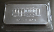 1973 CABLE CAR ART BAR SAN FRANCISCO PATRICK TEXT TYPE 1 .999 SILVER 1 TROY OZ
