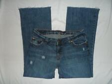 Womens American Eagle Jeans Size 6 Boy Fit Bootcut Factory Distressed Medium