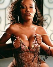 Lacey Duvalle In Leopard Lingerie Signed 8x10 Photo Adult Model Coa Proof 63