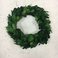 "Real Preserved Boxwood Wreath 6"" Farmhouse Home Decor Accent"