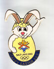 RARE PINS PIN'S .. OLYMPIQUE OLYMPIC SALT LAKE 2002 LAPIN RABBIT PAQUES OEUF ~16