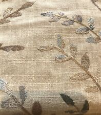 Embroidered Linen Blend Fabric (By the Yard)