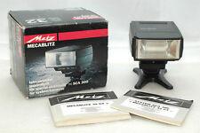 Metz 32 CT3 TTL Flash System SCA 300+SCA 343 Nikon TTL 35mm + scatola e manuali