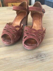 Chie Mihara brick red sandals