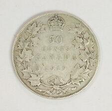 1919 .50 Cent Coin Canadian Half Dollar