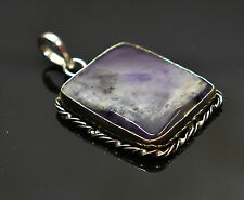 Natural Amethyst Gemstone 925 sterling silver Plated Ethnic Pendant EZ-11