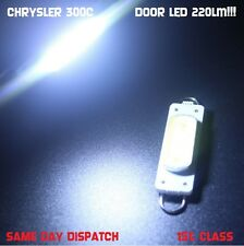 2x LED FOR  CHRYSLER 300C DOOR COURTESY PUDDLE LIGHT HI POWER COB 220lm!! 6000k