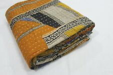 Cotton Kantha Quilt Throw Indian Vintage Handmade Blanket Twin Bedspread Vh-803
