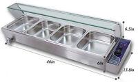 4-Pan Food Warmer Buffet Bain Marie Steam Table 110V 1500W Warming Equipment