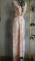 HOSS INTROPIA 💖 Elegant Blush Floral Lined Belt 100% Cotton Dress 12 14 poss 16