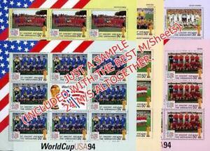 ST.VINCENT 1994  FOOTBALL WORLD CUP x24 large M/S MNH CV$200.00+ SPORTS SOCCER