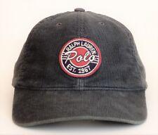 Vintage POLO Ralph Lauren MADE IN USA Corduroy Strapback Hat 1967 Script Cookie