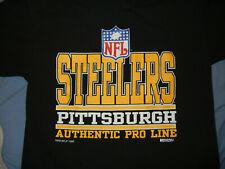 Vtg 90's Pittsburg Steelers t-shirt Lg Black Nfl Football