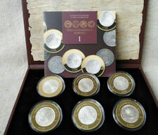 Mexico SET 6x100 peso 2011 Numismatic heritage  Silver  Bimetall  box COA