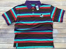 LRG Lifted Research Group Polo Shirt Striped Large NWT Rare Polo