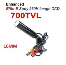 "Mini Bullet Camera 700TVL 1/3"" Sony CCD 16mm Lens CCTV Weatherproof"
