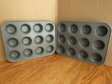 Ekco Baker's Secret Mini Muffin Pans 12 Ct Set of 2