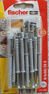 Fischer Nagelschraube N 5 x 50/ 25S 5 Packungen à 20 St. Preis pro Pkg/ 5€