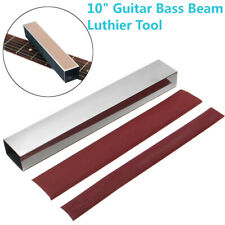 "10"" Guitar Bass Fret Leveling File Aluminum Beam Luthier Tool + 4x Sanding"