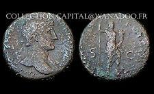 As Hadrien (117-138 Ap. J.C.) Rome. Janus debout. Bronze