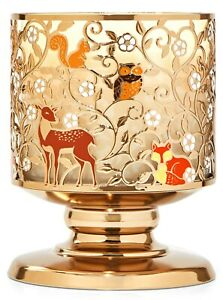 Bath & Body Works Cute Critters Fall Pedestal 3 Wick Candle Holder Stand