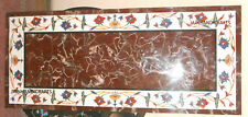 6'x3' white marble table top dining coffee inlay malachite handmade decor d142