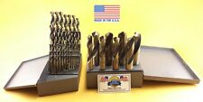 "Silver & Deming Drill Bit Set 1/16-1"" MOLY M7 Drills Lifetime Warranty USA MADE"