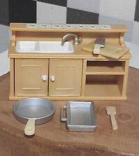 Sylvanian Families Calico Critters Kitchen Sink and Kitchen Wares