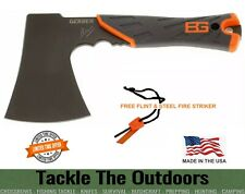 More details for bear grylls military survival axe ultra sharp hatchet free flint & steel striker