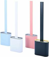 Silicone Flex Toilet Brush with Holder Toilet Brush Creative Cleaning Brush Set
